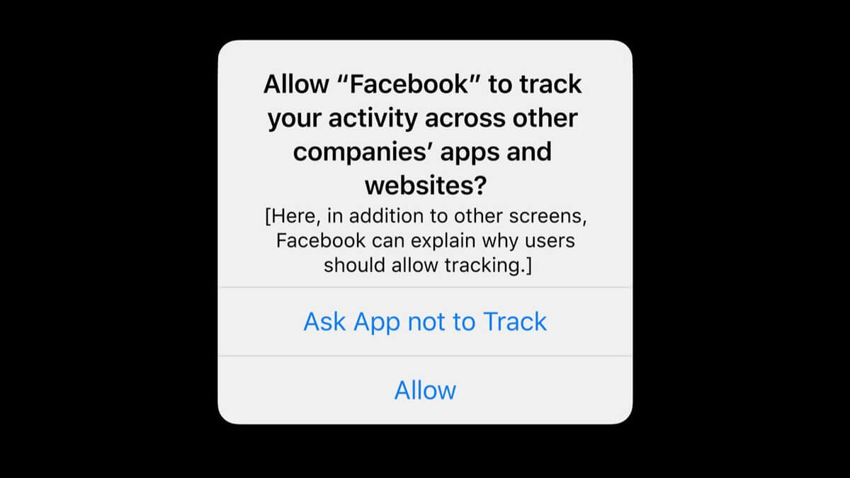 Apple iOS14 Facebook Opt-In Pop Up